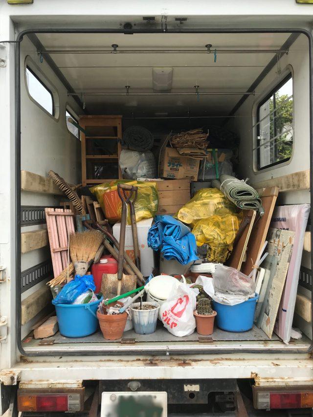 1軒分の家財道具を回収いたしました!ぐっと費用が抑えられご満足いただけました。