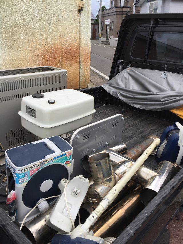 ご家庭では廃棄の難しいFF式ストーブなどの不用品も処分できご満足いただけました。
