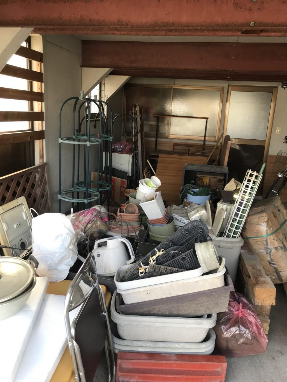【五所川原市】プランターなど倉庫の不用品をまとめて回収☆空っぽに片付きお喜びいただけました!