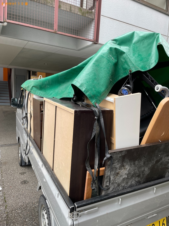 【青森市】スタンドミラー、本棚、シングルベッド等の回収