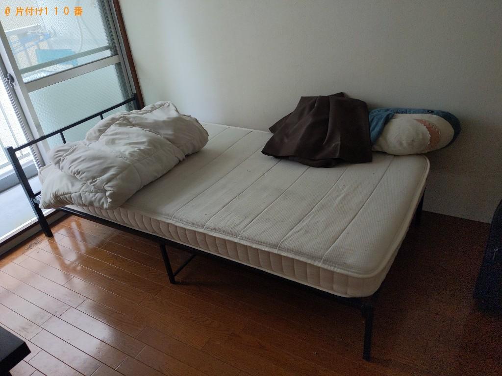 【青森市】洗濯機、マットレス付きシングルベッド、ハンガー等の回収