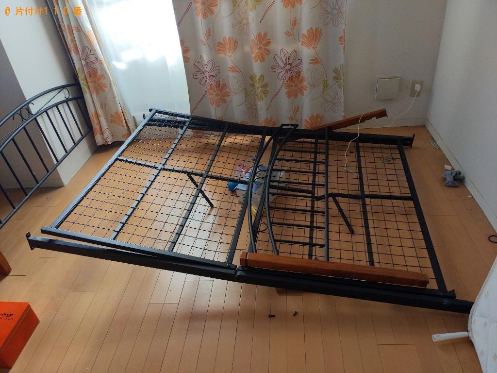 【青森市】冷蔵庫、マットレス付きセミダブルベッド等の回収・処分