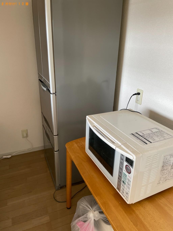【青森市千富町】本棚、食器棚、マットレス付きダブルベッドの回収