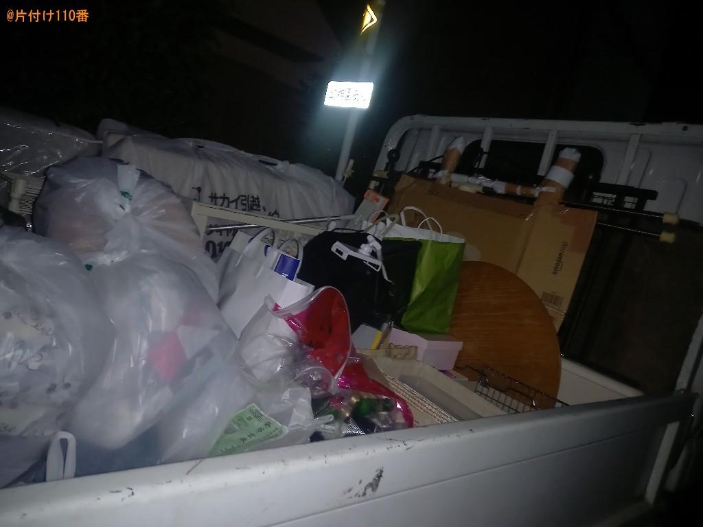 マットレス付きシングルベッド、カゴ、ラック、カーペット等の回収